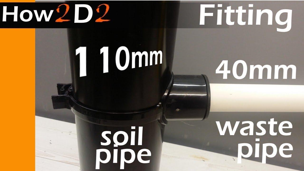 waste soil stack NEW Access Branch 110mm 92.5° Black DIY Each plumbing