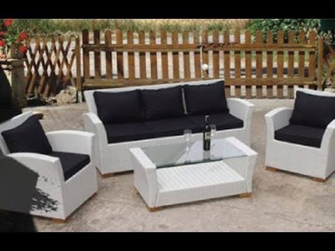 White Wicker Patio Furniture Youtube