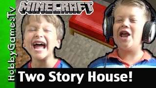 Trap Doors + Two Story House! PS4 Minecraft Gameplay By HobbyGamesTV.