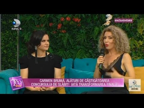 Teo Show(12.07.2018) - Carmen Bruma alaturi de castigatoarea concursului de slabit! Partea 3