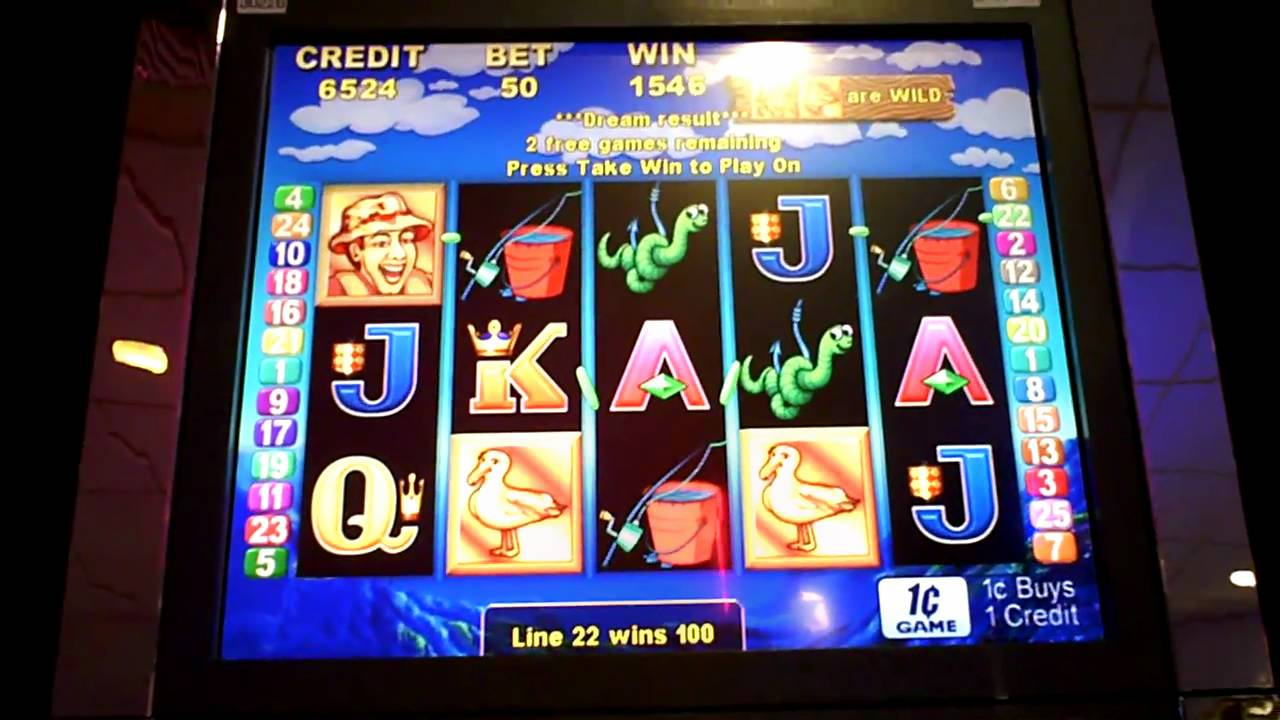 Let 39 s go fishing slot machine bonus youtube for Fish slot machine