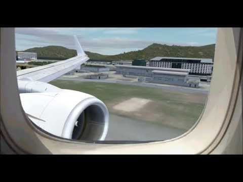 fsx realism Korean air Macao and Hong Kong tour  2nd. video