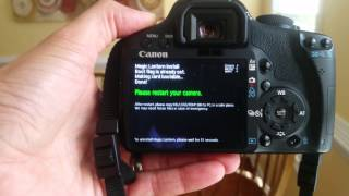 Installing Magic Lantern Firmware on the Canon T1i (500D)