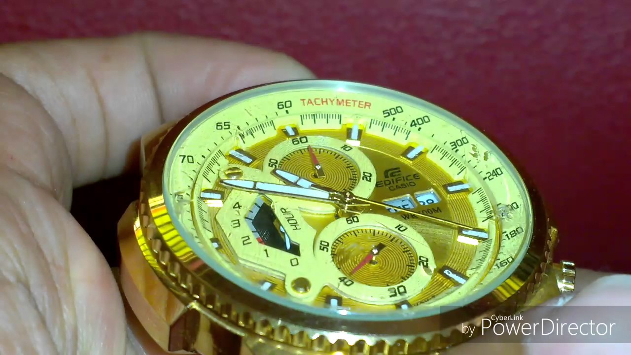 6c71ad888 Casio Edifice gold watch - YouTube