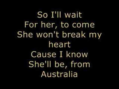 *Jonas Brothers - AUSTRALIA* Lyrics