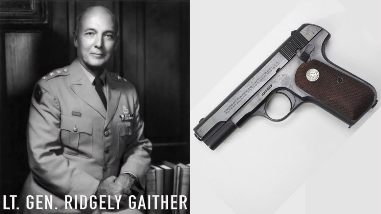Lt. Gen. Ridgley Gaither's Colt Model 1908 Pocket Hammerless Pistol