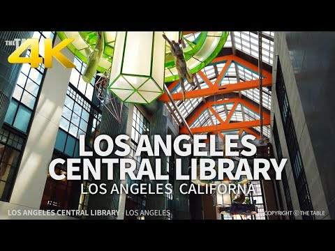LOS ANGELES - Los Angeles Central Library, Downtown Los Angeles, California, USA, Travel, 4K UHD