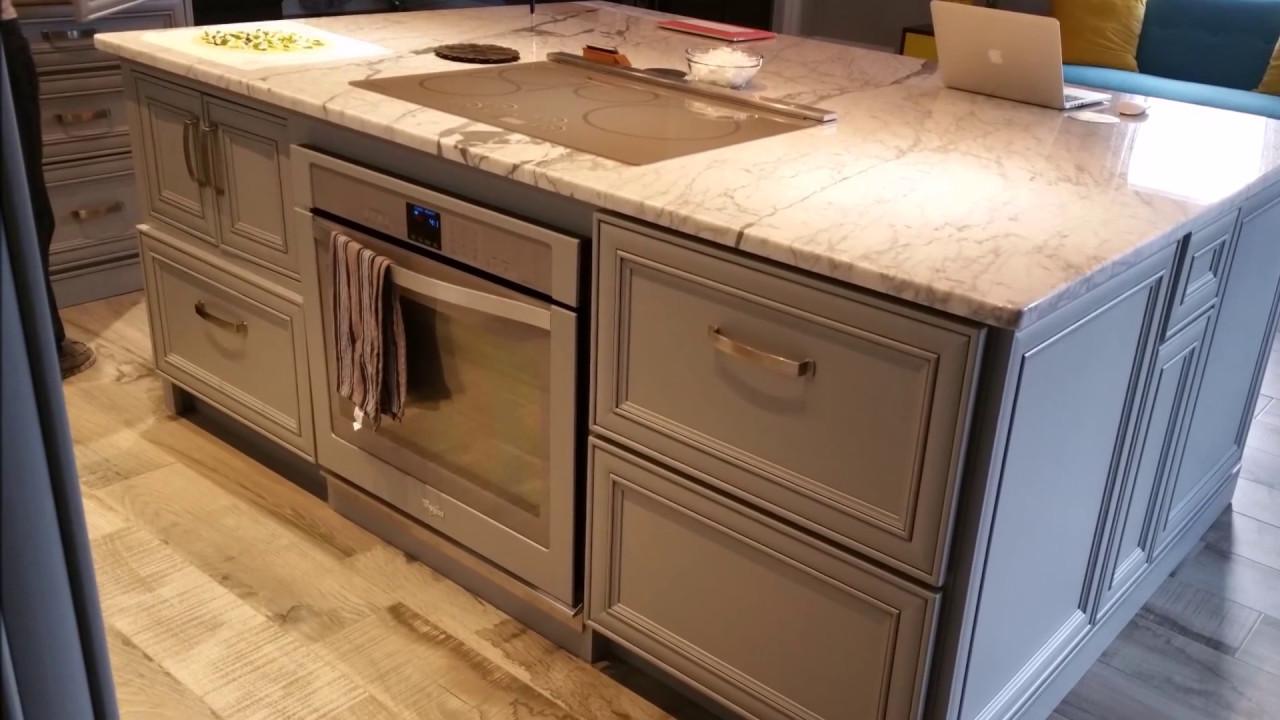 Full Custom Paris Grey Kitchen And Island Youtube