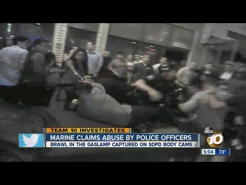Marine claims abuse by police officers