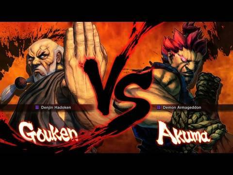 street fighter assassins fist gouken vs akuma