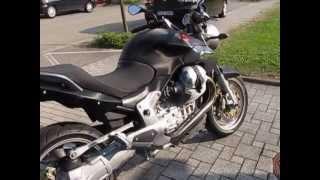 MotoGuzzi Breva 1200 ABS Agostini sound inox cone / style carbon black