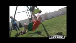 Lifetime Three-station Swing Set (model 290038)