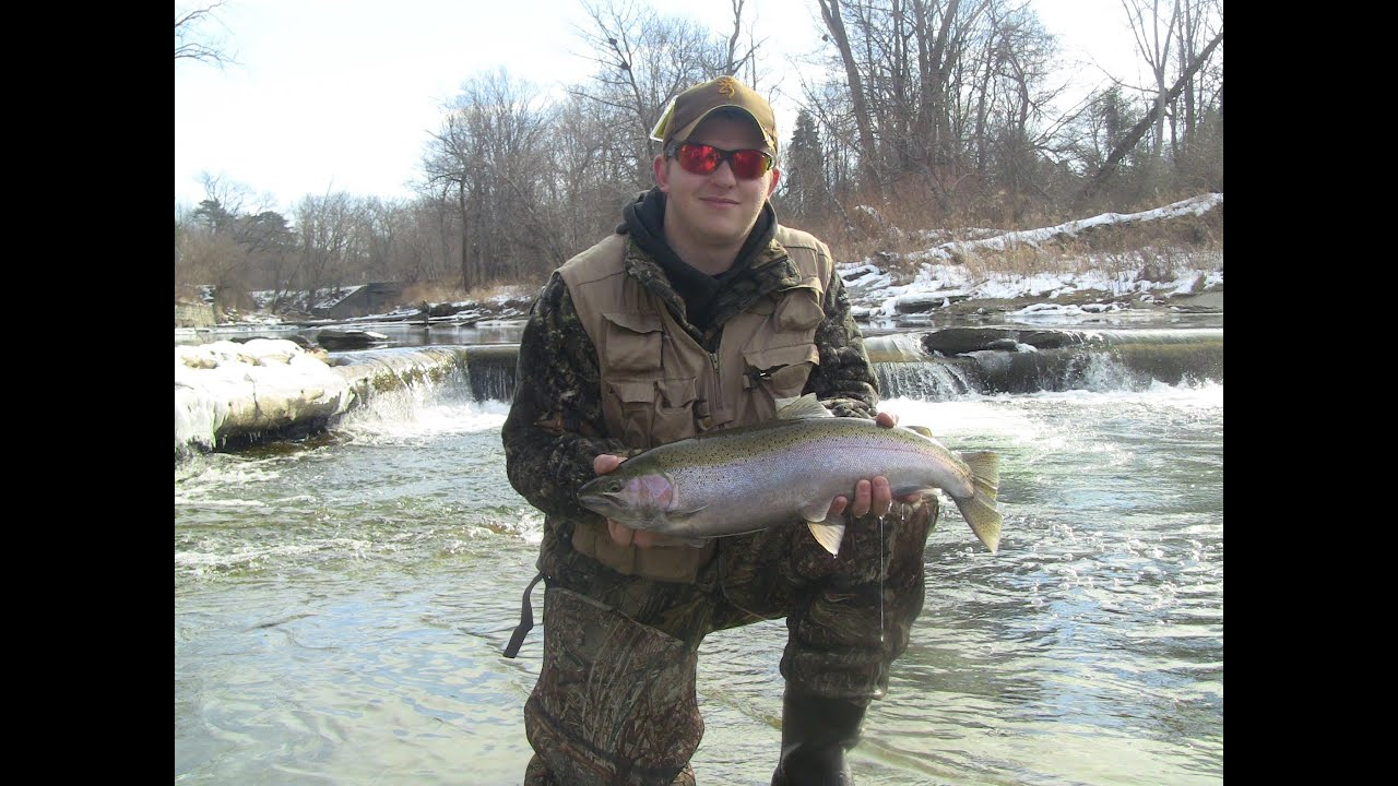 steelhead fishing walnut creek erie pa 2013 youtube