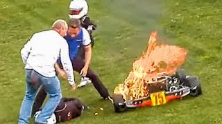 CRASH! Karting Mayhem... Inc. How to Deal with a Kart on Fire!