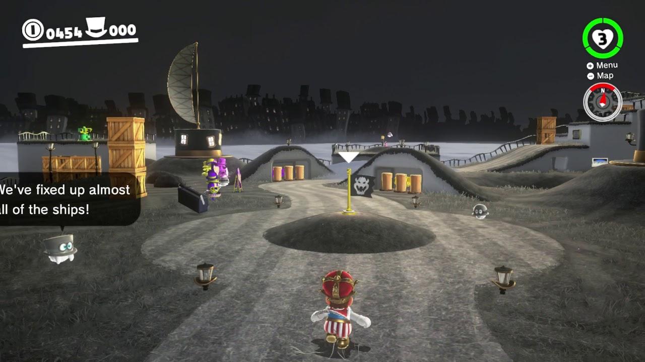 Super Mario Odyssey Cap Kingdom Moon 16 Peach In The