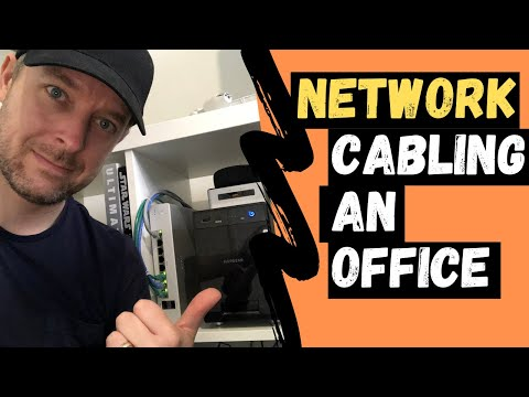 How To CABLE An OFFICE NETWORK | Routing Office Network Cables