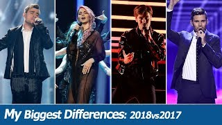 MY BIGGEST DIFFERENCES: Eurovision 2018 vs 2017