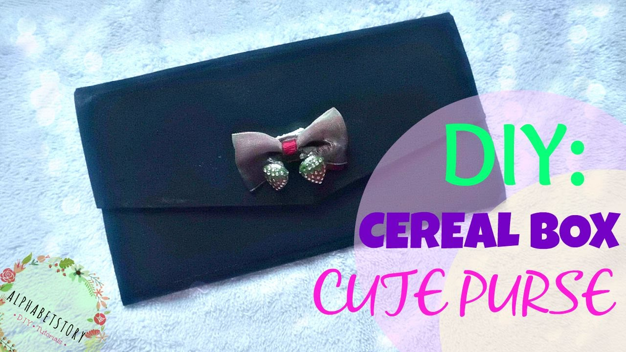 Diy cute purse from cereal boxes fun and easy cheap diy cute purse from cereal boxes fun and easy cheap alphabetstory youtube ccuart