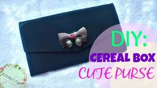 DIY: FANCY PURSE from cereal boxes | FUN and EASY | CHEAP | AiiMADEit