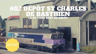 #02 Dépôt St Charles de Basthien - La CC 72058 sort du dépôt
