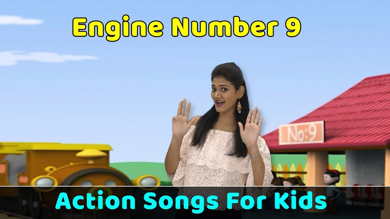 Download Engine Number 9 Song | Action Songs For Kids | Nursery Rhymes With Actions | Baby Rhymes English