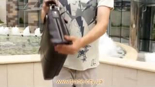 Обзор кожаного мужского портфеля коричневого цвета