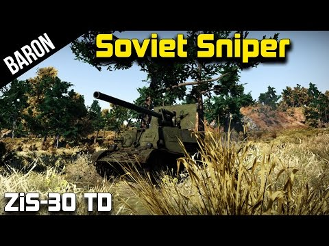 Soviet Sniper!  The ZiS-30 Tank Destroyer (War Thunder Tanks Gameplay)