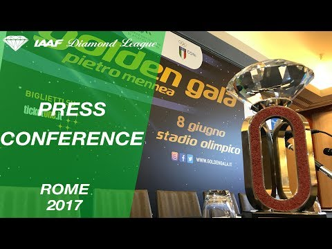 Rome Press Conference, 2017 - IAAF Diamond League
