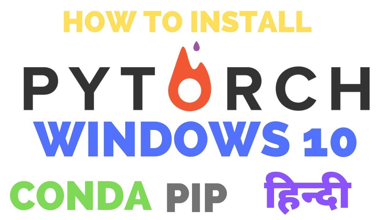 How to install pytorch in anaconda windows 10