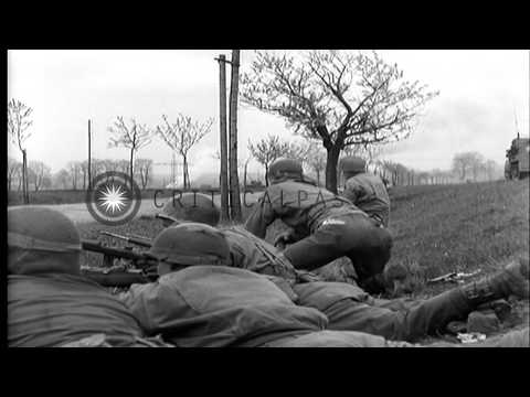 Sixth Armored Division Of United States Army Drives Through Altenburg In Germany HD Stock Footage