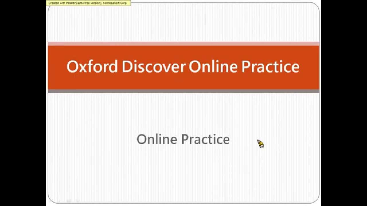 Oxford Discover Online Practice - YouTube