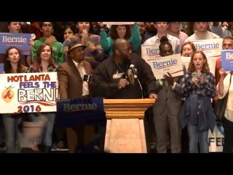 Killer Mike Introduces Bernie Sanders in Atlanta