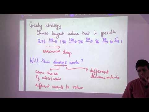 Greedy Algorithm Design Technique - Madhavan Mukund (part 1)