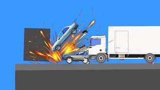 Realistic Extreme Car Crashes  Phun Algodoo Moments #1
