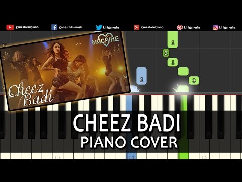 Cheez Badi Machine|Mustafa Kiara Advani|Hindi Song|Piano Chords Tutorial Instrumental By Ganesh Kini
