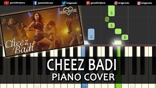 Cheez Badi Machine|Mustafa Kiara Advani|Hindi Song|Piano Chords Tutorial Instrumental By Ganesh Kini