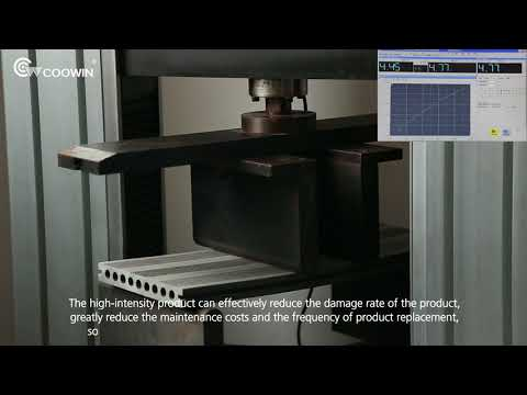 #Coowin Composite Decking TS-04 Classical 3D embossed Surface Strength Test VIDEO