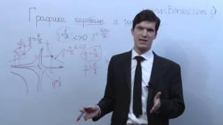Сопоставление графиков параболы и гиперболы в ОГЭ по математике