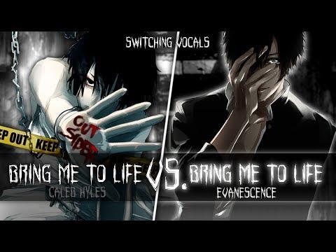 ◤Nightcore◢ ↬ Bring me to life [Switching Vocals] (Caleb Hyles)