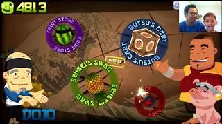 Fruits Ninja Classic Mode - Record Breaking Fail + Slice Annoying Orange