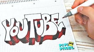 ГРАФФИТИ - YouTube !!! КАК НАРИСОВАТЬ? !!! урок граффити graffiti logo ютуб