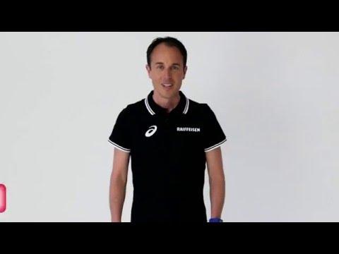 Exercice de fitness de Viktor Roethlin pour La Suisse bouge
