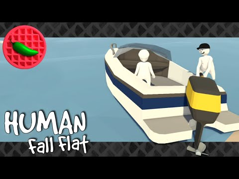 HARBOR OF MISERY! -- Let's Play Human: Fall Flat (Part #4) (Local Co-op)(PC Gameplay)