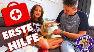 ERSTE HILFE für MILEY - VERBLUTUNG stoppen - Family Fun