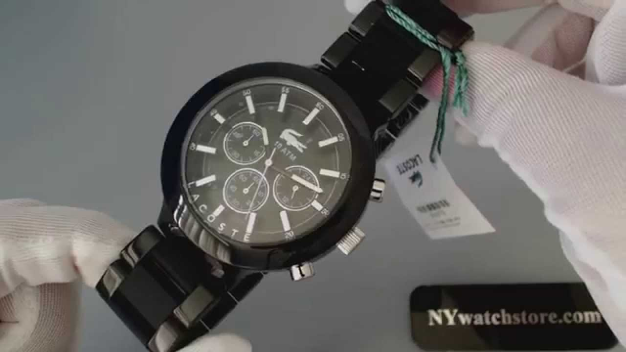 Men's Lacoste Seattle Chronograph Blue Dial Watch 2010641 - YouTube