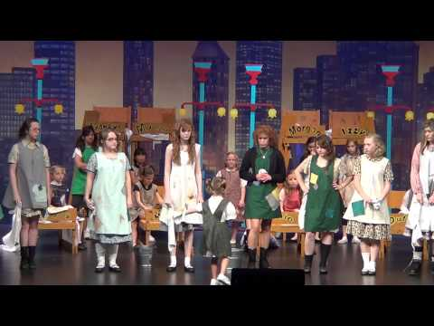 Livvy as Molly in Annie singing