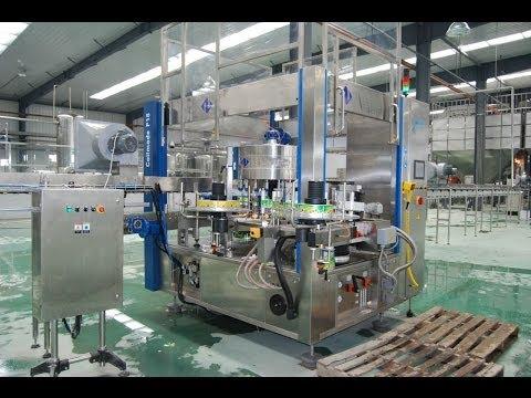 Rotary hot melt labeling equipment high speed labeler machine for Juice bottles drinking - 동영상