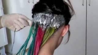 Evde Koyu Saç Rengini Açma İşlemi | Simsim