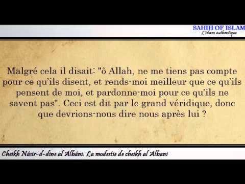 La modestie de Sheikh al Albani