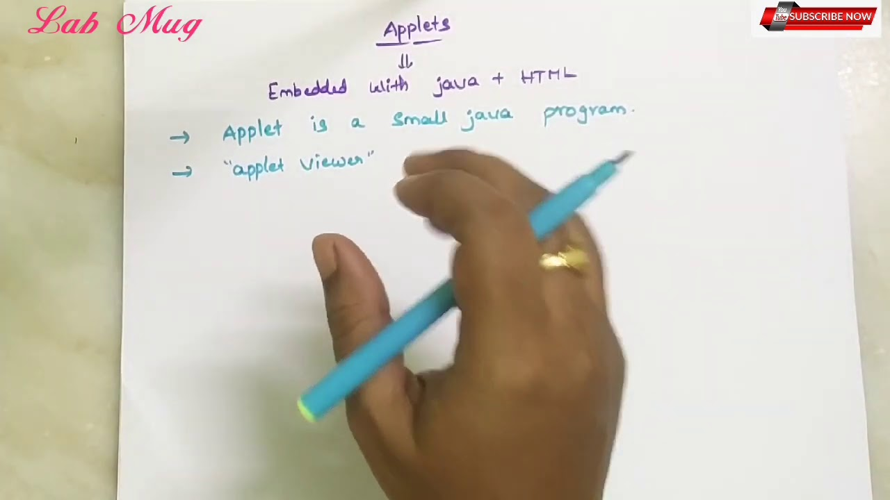 Download Applets introduction and types of applets in java    53    java course in telugu